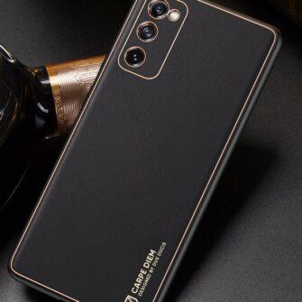 Samsung Galaxy S20 FE 5G umbris Dux Ducis Yolo elegant kunstnahast ja silikoonist servadega black 19