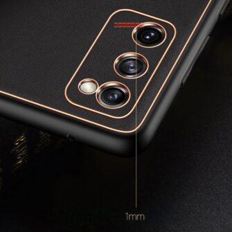 Samsung Galaxy S20 FE 5G umbris Dux Ducis Yolo elegant kunstnahast ja silikoonist servadega black 20