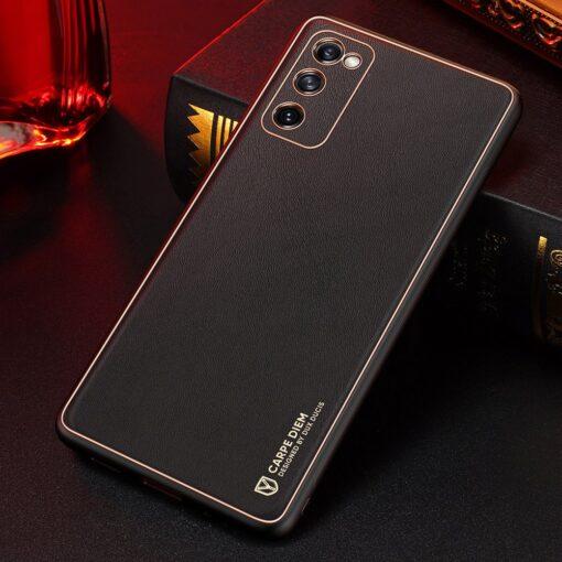Samsung Galaxy S20 FE 5G umbris Dux Ducis Yolo elegant kunstnahast ja silikoonist servadega black 24