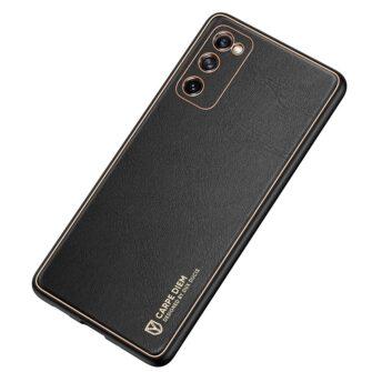 Samsung Galaxy S20 FE 5G umbris Dux Ducis Yolo elegant kunstnahast ja silikoonist servadega black 3