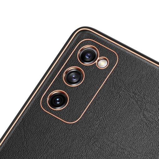 Samsung Galaxy S20 FE 5G umbris Dux Ducis Yolo elegant kunstnahast ja silikoonist servadega black 5