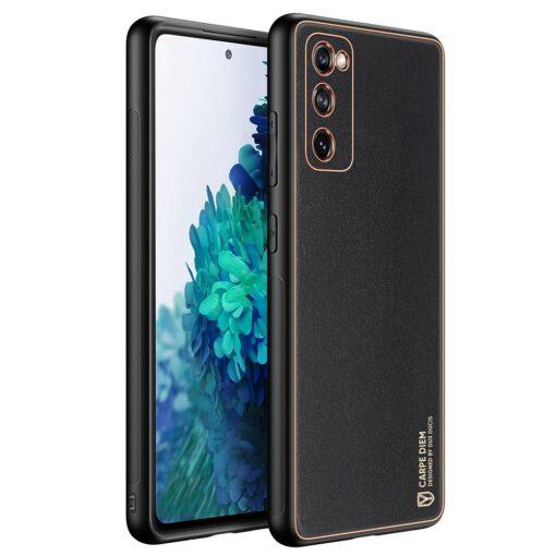 Samsung Galaxy S20 FE 5G umbris Dux Ducis Yolo elegant kunstnahast ja silikoonist servadega black