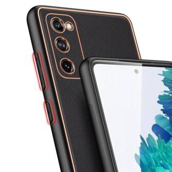 Samsung Galaxy S20 FE 5G umbris Dux Ducis Yolo elegant kunstnahast ja silikoonist servadega black 6