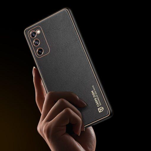 Samsung Galaxy S20 FE 5G umbris Dux Ducis Yolo elegant kunstnahast ja silikoonist servadega black 8
