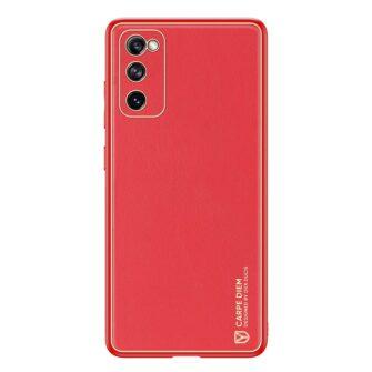 Samsung Galaxy S20 FE 5G umbris Dux Ducis Yolo elegant kunstnahast ja silikoonist servadega punane 1