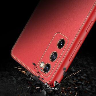 Samsung Galaxy S20 FE 5G umbris Dux Ducis Yolo elegant kunstnahast ja silikoonist servadega punane 10