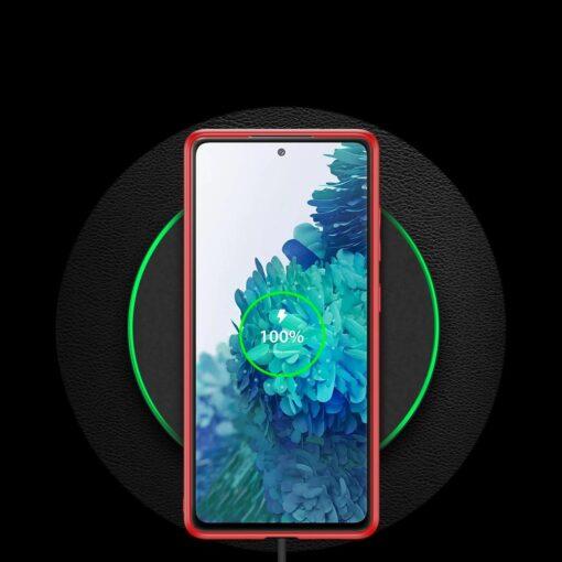 Samsung Galaxy S20 FE 5G umbris Dux Ducis Yolo elegant kunstnahast ja silikoonist servadega punane 11