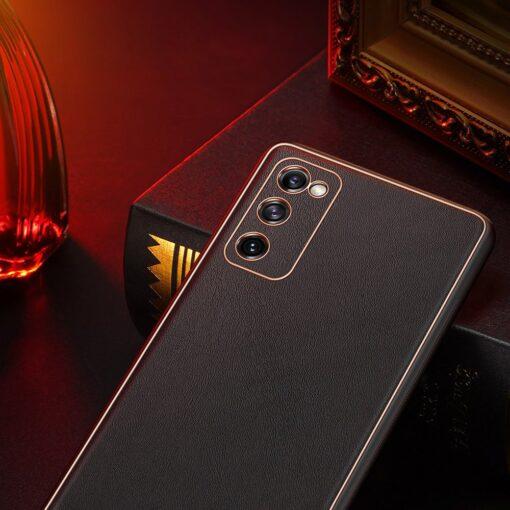 Samsung Galaxy S20 FE 5G umbris Dux Ducis Yolo elegant kunstnahast ja silikoonist servadega punane 14