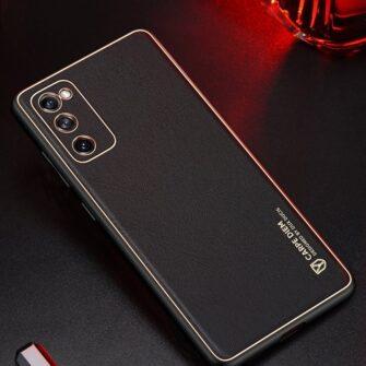 Samsung Galaxy S20 FE 5G umbris Dux Ducis Yolo elegant kunstnahast ja silikoonist servadega punane 15