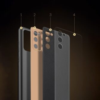 Samsung Galaxy S20 FE 5G umbris Dux Ducis Yolo elegant kunstnahast ja silikoonist servadega punane 16