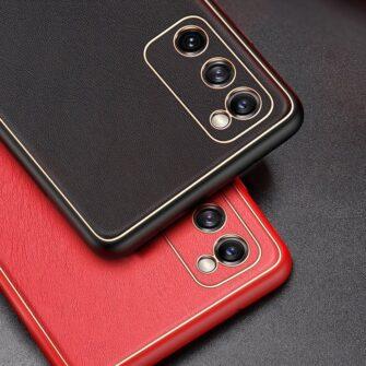 Samsung Galaxy S20 FE 5G umbris Dux Ducis Yolo elegant kunstnahast ja silikoonist servadega punane 17