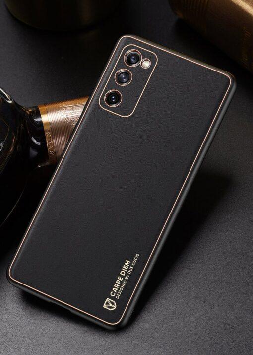Samsung Galaxy S20 FE 5G umbris Dux Ducis Yolo elegant kunstnahast ja silikoonist servadega punane 18