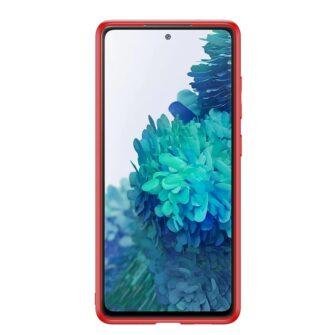 Samsung Galaxy S20 FE 5G umbris Dux Ducis Yolo elegant kunstnahast ja silikoonist servadega punane 2