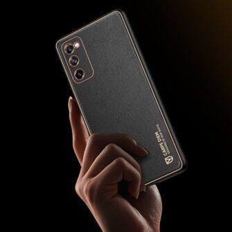 Samsung Galaxy S20 FE 5G umbris Dux Ducis Yolo elegant kunstnahast ja silikoonist servadega punane 20