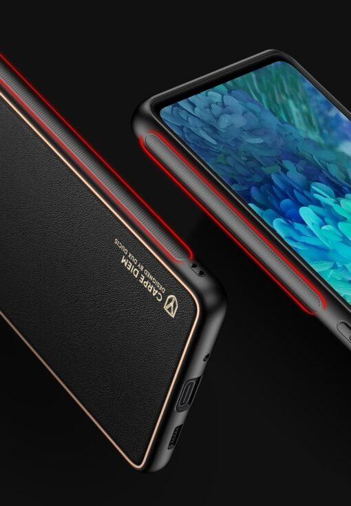 Samsung Galaxy S20 FE 5G umbris Dux Ducis Yolo elegant kunstnahast ja silikoonist servadega punane 23