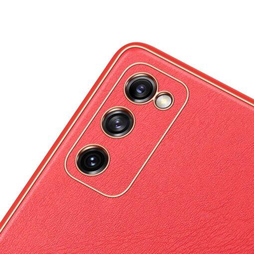 Samsung Galaxy S20 FE 5G umbris Dux Ducis Yolo elegant kunstnahast ja silikoonist servadega punane 5