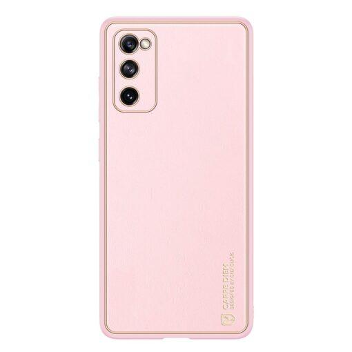 Samsung Galaxy S20 FE 5G umbris Dux Ducis Yolo elegant kunstnahast ja silikoonist servadega roosa 1