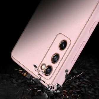 Samsung Galaxy S20 FE 5G umbris Dux Ducis Yolo elegant kunstnahast ja silikoonist servadega roosa 10