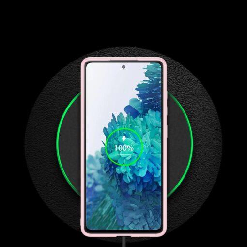 Samsung Galaxy S20 FE 5G umbris Dux Ducis Yolo elegant kunstnahast ja silikoonist servadega roosa 11