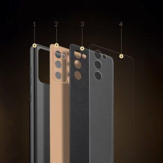 Samsung Galaxy S20 FE 5G umbris Dux Ducis Yolo elegant kunstnahast ja silikoonist servadega roosa 16