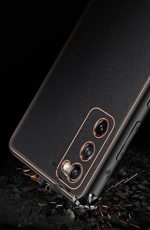 Samsung Galaxy S20 FE 5G umbris Dux Ducis Yolo elegant kunstnahast ja silikoonist servadega roosa 22