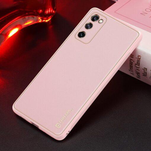 Samsung Galaxy S20 FE 5G umbris Dux Ducis Yolo elegant kunstnahast ja silikoonist servadega roosa 24