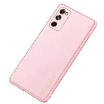 Samsung Galaxy S20 FE 5G umbris Dux Ducis Yolo elegant kunstnahast ja silikoonist servadega roosa 3