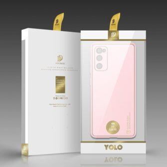 Samsung Galaxy S20 FE 5G umbris Dux Ducis Yolo elegant kunstnahast ja silikoonist servadega roosa 4