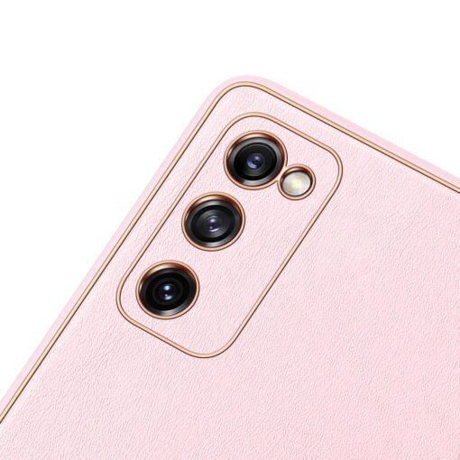 Samsung Galaxy S20 FE 5G umbris Dux Ducis Yolo elegant kunstnahast ja silikoonist servadega roosa 5