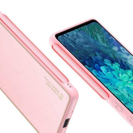 Samsung Galaxy S20 FE 5G umbris Dux Ducis Yolo elegant kunstnahast ja silikoonist servadega roosa 7