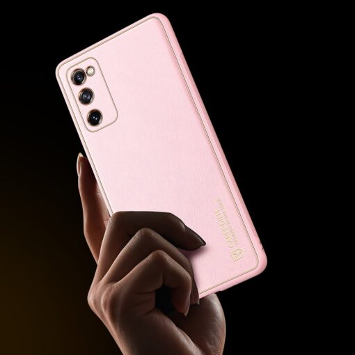 Samsung Galaxy S20 FE 5G umbris Dux Ducis Yolo elegant kunstnahast ja silikoonist servadega roosa 8