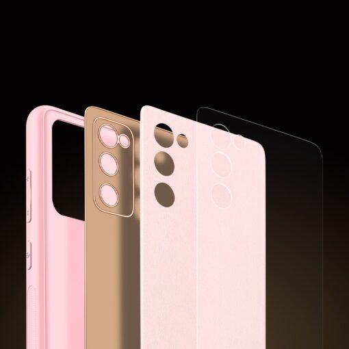 Samsung Galaxy S20 FE 5G umbris Dux Ducis Yolo elegant kunstnahast ja silikoonist servadega roosa 9