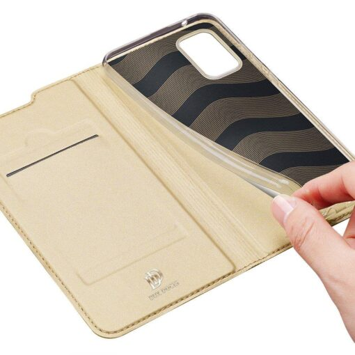 Samsung Galaxy S20FE kaaned kaarditaskuga kunstnahast kuldne 6