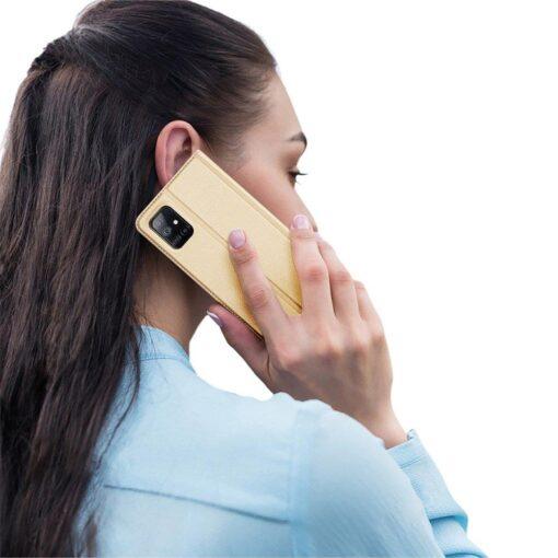 Samsung Galaxy S20FE kaaned kaarditaskuga kunstnahast kuldne 7