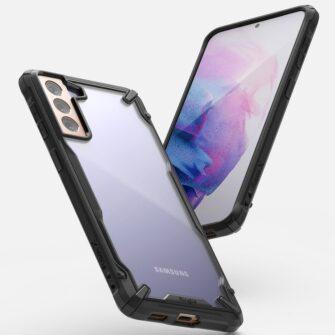 Samsung Galaxy S21 Plus Ringke Fusion X tugev umbris plastikust taguse ja silikoonist raamiga must FUSG0067 2