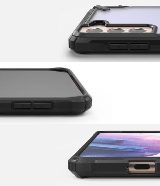 Samsung Galaxy S21 Plus Ringke Fusion X tugev umbris plastikust taguse ja silikoonist raamiga must FUSG0067 3