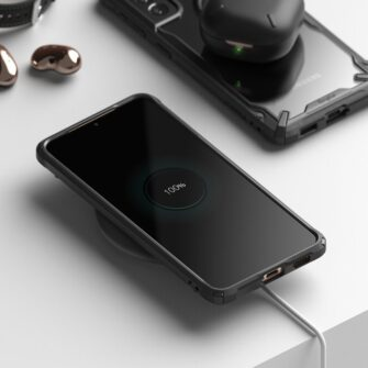 Samsung Galaxy S21 Plus Ringke Fusion X tugev umbris plastikust taguse ja silikoonist raamiga must FUSG0067 4