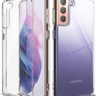 Samsung Galaxy S21 Plus Ringke Fusion umbris plastikust taguse ja silikoonist raamiga labipaistev FSSG0091 1