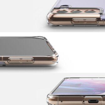 Samsung Galaxy S21 Plus Ringke Fusion umbris plastikust taguse ja silikoonist raamiga labipaistev FSSG0091 2