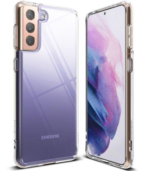 Samsung Galaxy S21 Plus Ringke Fusion umbris plastikust taguse ja silikoonist raamiga labipaistev FSSG0091