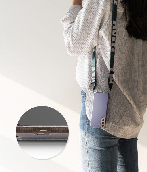 Samsung Galaxy S21 Plus Ringke Fusion umbris plastikust taguse ja silikoonist raamiga labipaistev FSSG0091 6