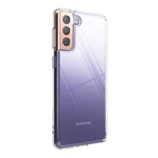 Samsung Galaxy S21 Plus Ringke Fusion umbris plastikust taguse ja silikoonist raamiga labipaistev FSSG0091 8