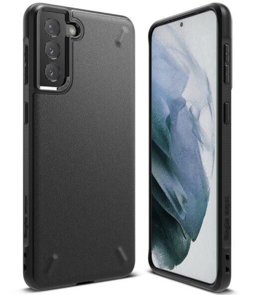 Samsung Galaxy S21 Plus Ringke Onyx tugev umbris silikoonist must OXSG0026