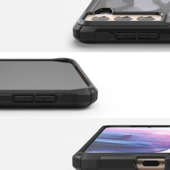 Samsung Galaxy S21 Ringke Fusion X Design tugev umbris plastikust taguse ja silikoonist raamiga must camo XDSG0044 1