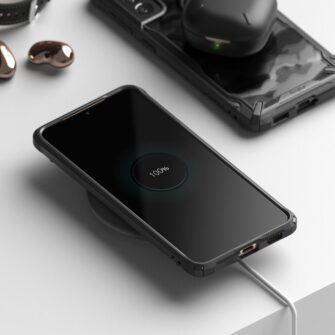 Samsung Galaxy S21 Ringke Fusion X Design tugev umbris plastikust taguse ja silikoonist raamiga must camo XDSG0044 3