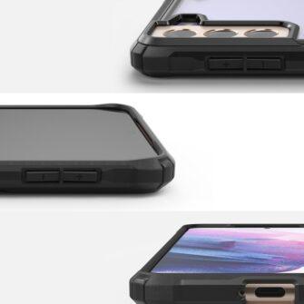 Samsung Galaxy S21 Ringke Fusion X tugev umbris plastikust taguse ja silikoonist raamiga must FUSG0066 1