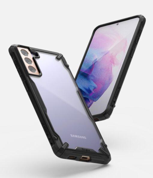 Samsung Galaxy S21 Ringke Fusion X tugev umbris plastikust taguse ja silikoonist raamiga must FUSG0066 2