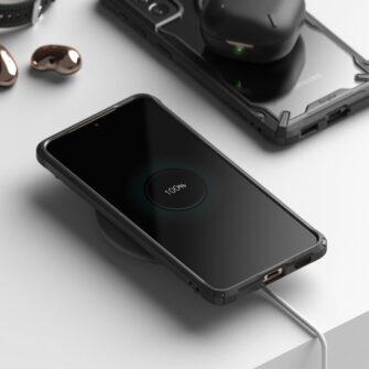 Samsung Galaxy S21 Ringke Fusion X tugev umbris plastikust taguse ja silikoonist raamiga must FUSG0066 3