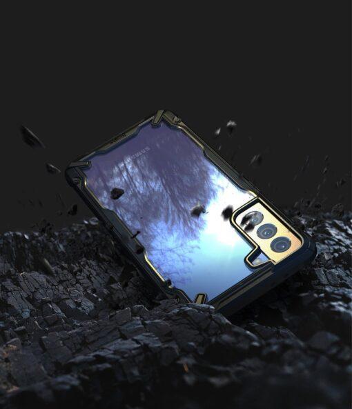 Samsung Galaxy S21 Ringke Fusion X tugev umbris plastikust taguse ja silikoonist raamiga must FUSG0066 4