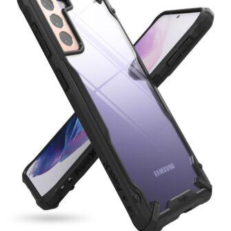 Samsung Galaxy S21 Ringke Fusion X tugev umbris plastikust taguse ja silikoonist raamiga must FUSG0066 6